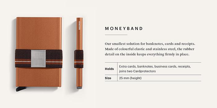 荷蘭 SECRID|Moneybank 鈔票錢夾帶/卡夾固定帶 - 磚紅