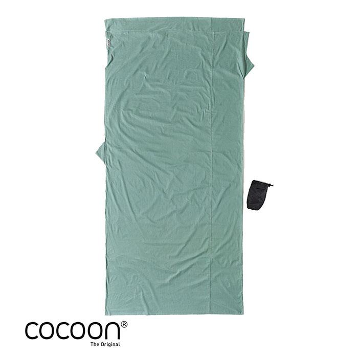 奧地利 COCOON|舒適睡眠 天然純棉旅行床單/睡袋內袋-仙人掌色