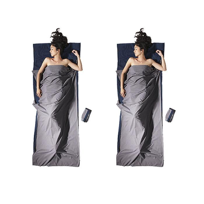 (複製)奧地利 COCOON|舒適睡眠 天然純棉旅行床單/睡袋內袋-深海藍/大象灰