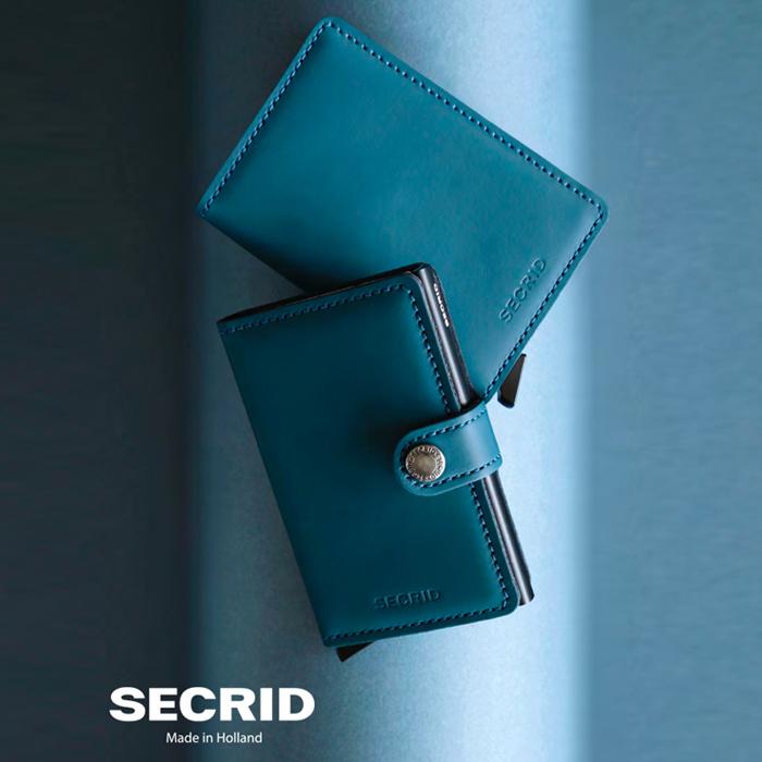 荷蘭 SECRID RFID安全防盜錄 Miniwallet Matte 經典真皮卡夾 - 墨藍