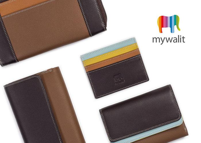 (複製)義大利 mywalit|繽紛配色真皮革 小牛皮卡片鑰匙零錢包 -薰衣草紫