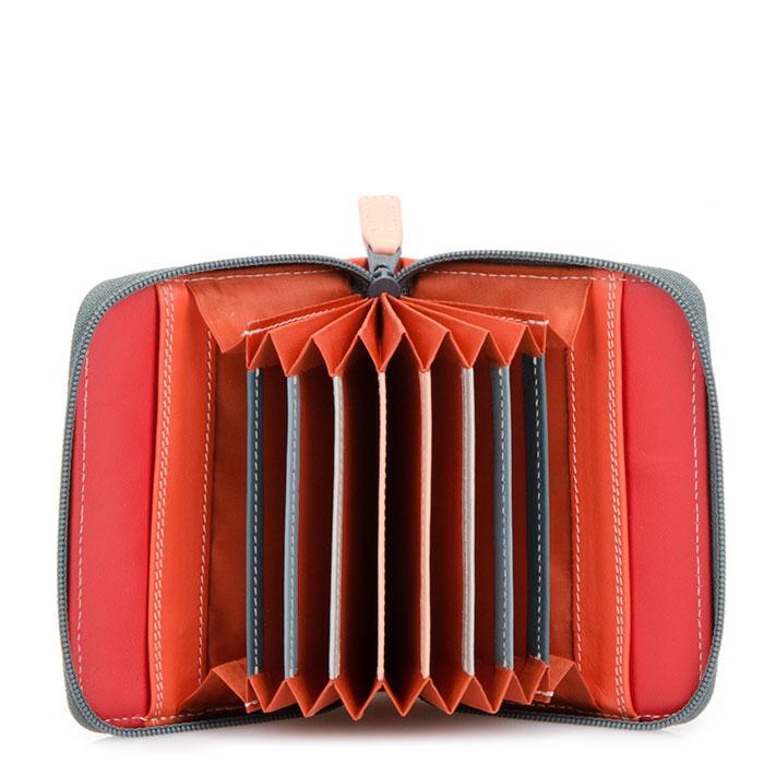 (複製)義大利 mywalit|繽紛配色真皮革 小牛皮卡片鑰匙零錢包 -藍