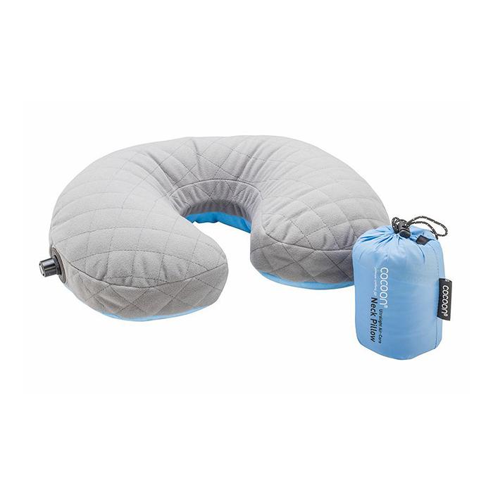 奧地利 COCOON|極輕舒適 超細纖維U型充氣頸枕 -藍