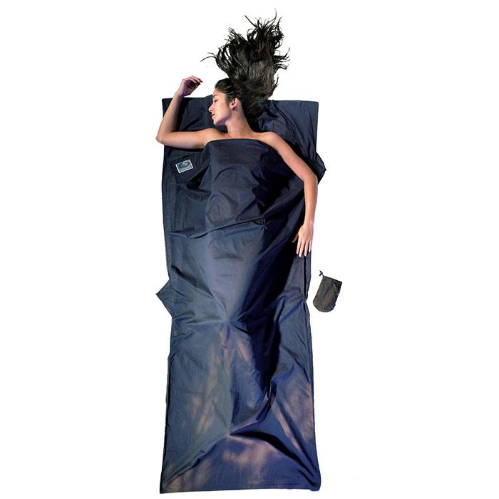 奧地利 COCOON|舒適乾淨 埃及棉睡袋內袋 / 旅行床單-深藍