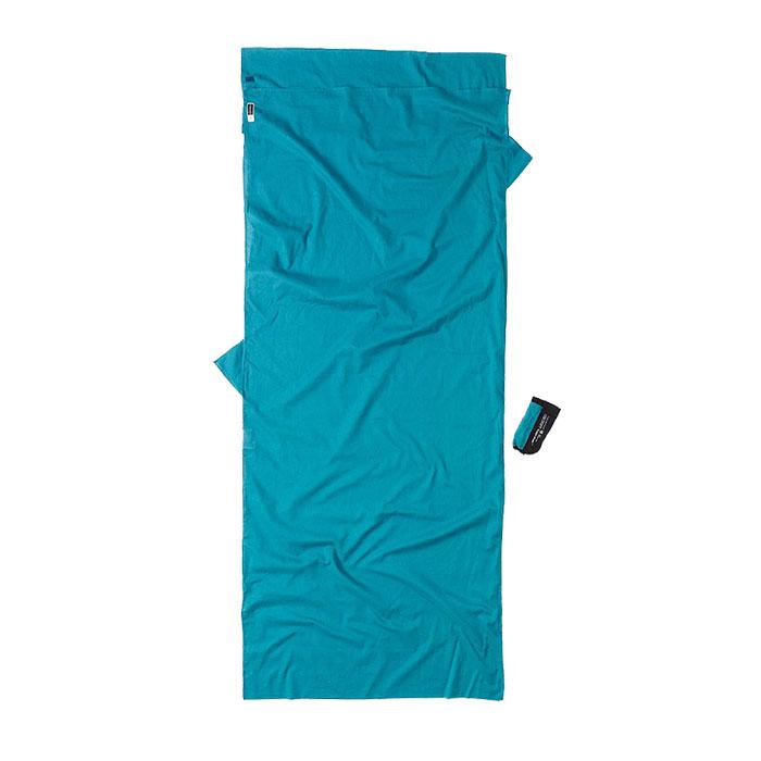奧地利 COCOON|露營戶外 防蚊埃及棉旅行床單/睡袋內袋-藍