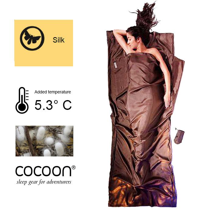 奧地利 COCOON|輕巧親膚 100%純絲 旅用床單 / 睡袋內袋-泥灰