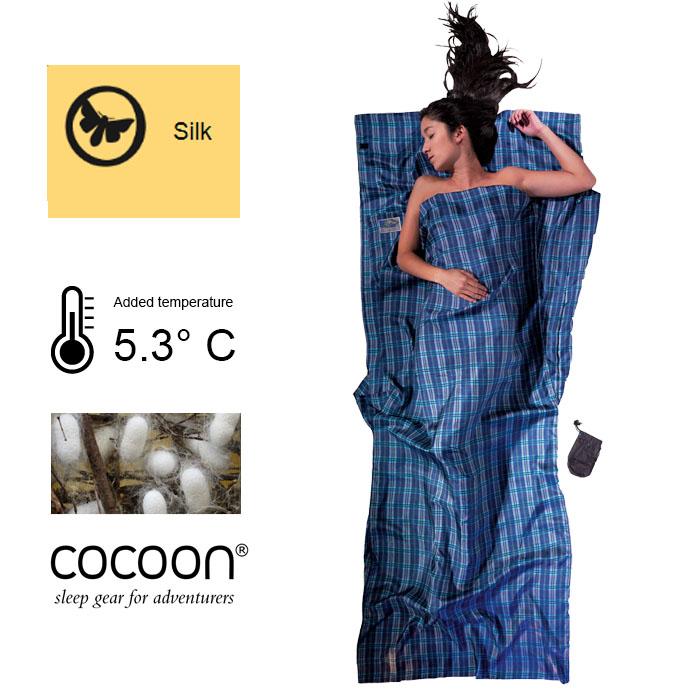(複製)奧地利 COCOON|輕巧親膚 100%純絲 旅用床單 / 睡袋內袋-矢車菊藍
