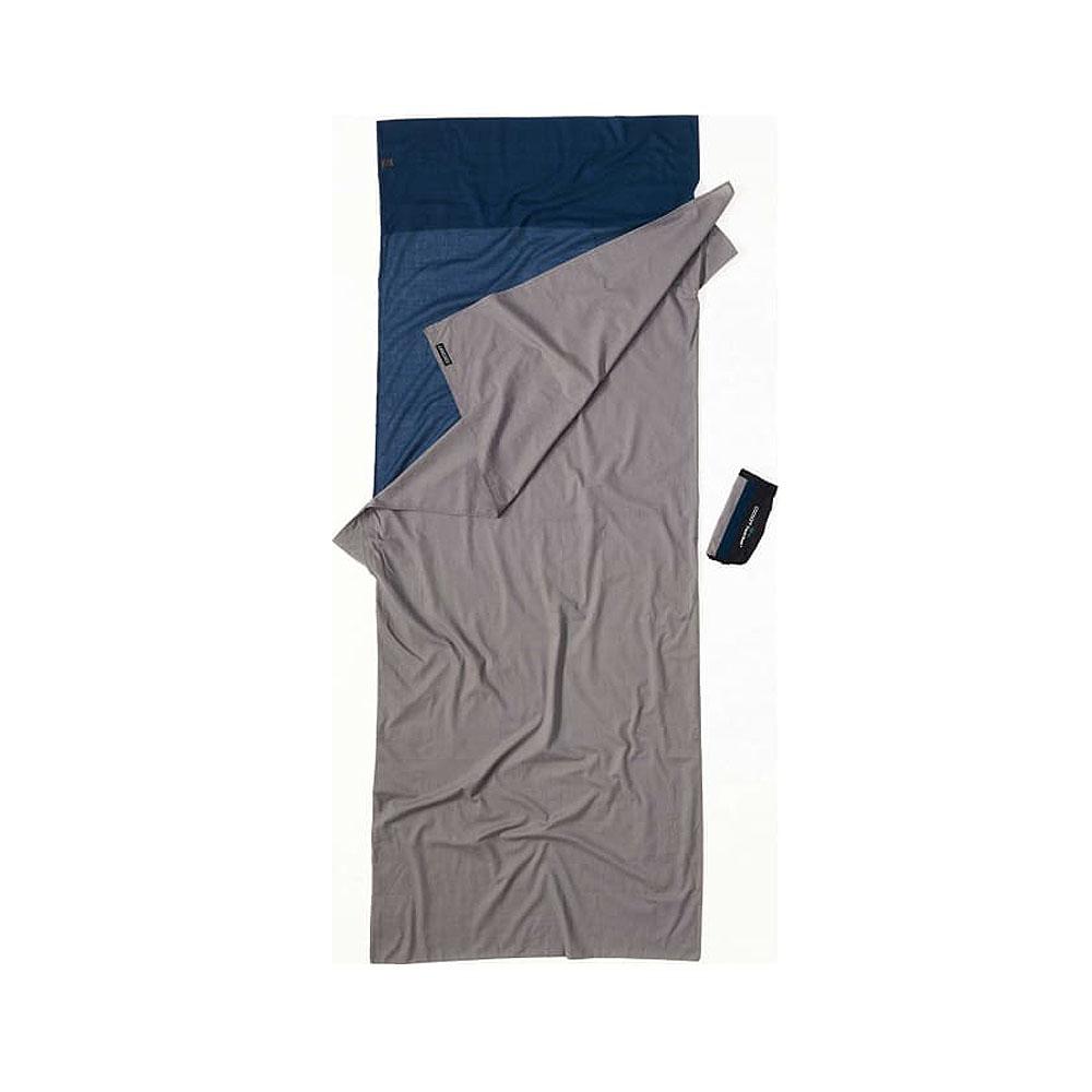 奧地利 COCOON|舒適睡眠 天然純棉旅行床單/睡袋內袋-深海藍/大象灰