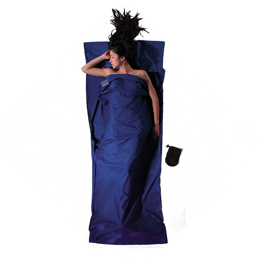 奧地利 COCOON|舒適睡眠 天然純棉旅行床單/睡袋內袋-紺青藍