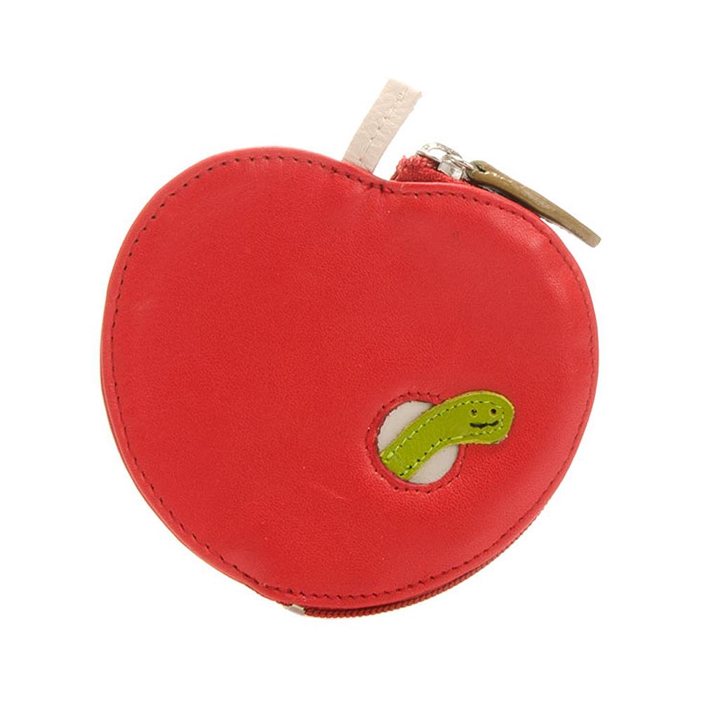 義大利 mywalit 繽紛配色真皮革 造型鑰匙小零錢包 -蘋果蟲