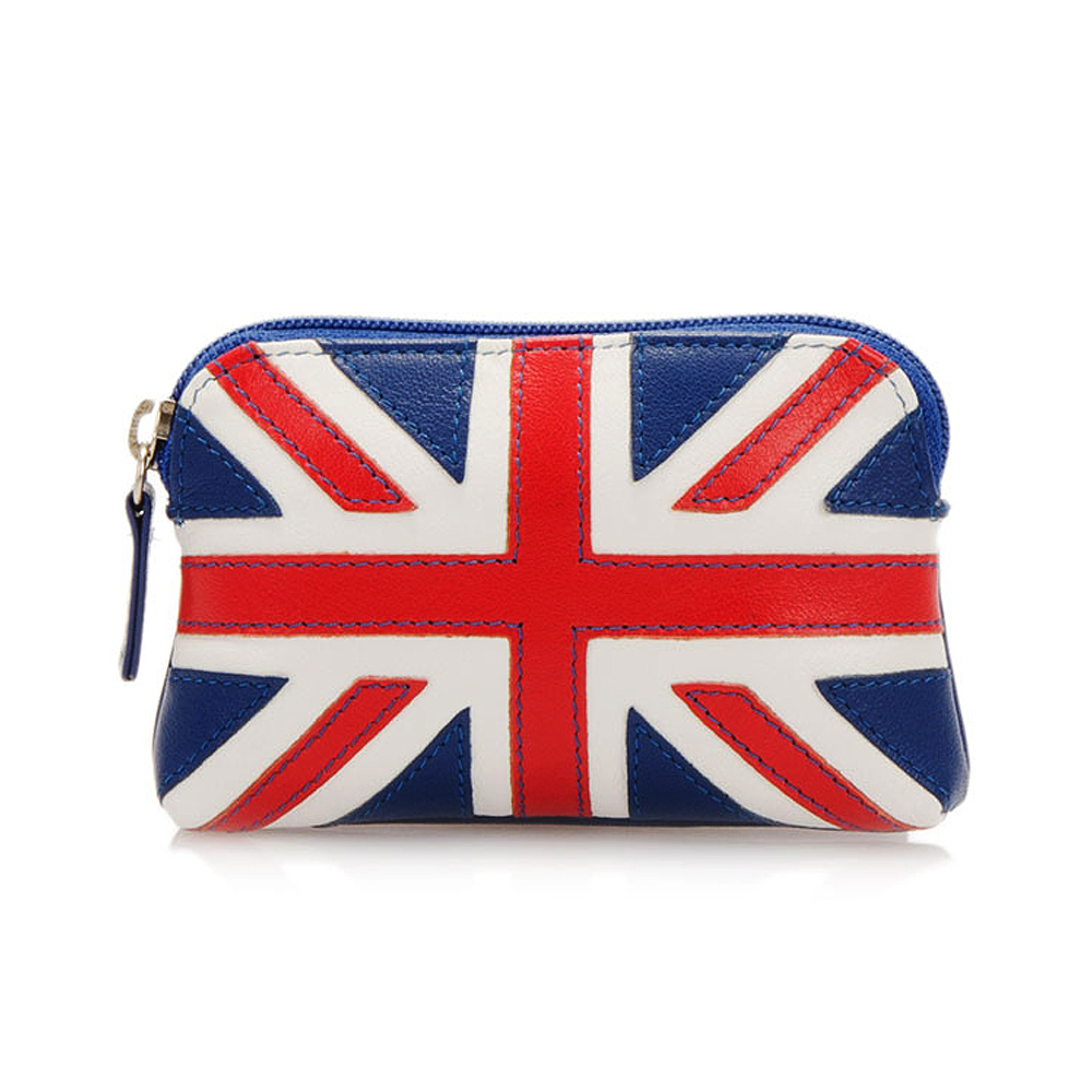 義大利 mywalit|繽紛配色真皮革 萬國國旗小零錢包 - 英國