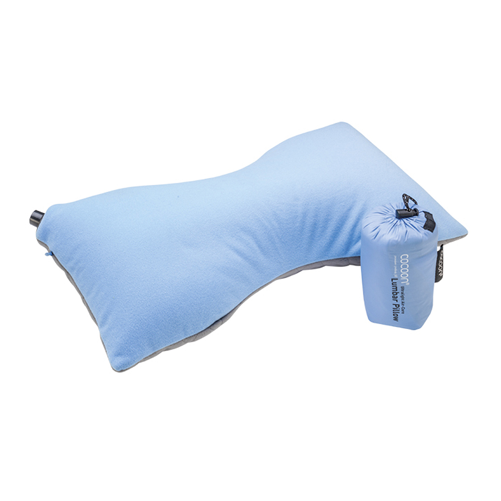 奧地利 COCOON|極輕舒適 超細纖維充氣枕腰頸靠墊 (骨頭形狀) -藍