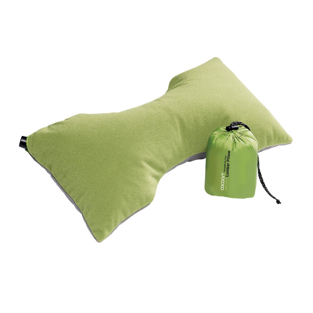 奧地利 COCOON|極輕舒適 超細纖維充氣枕腰頸靠墊 (骨頭形狀) -亮綠