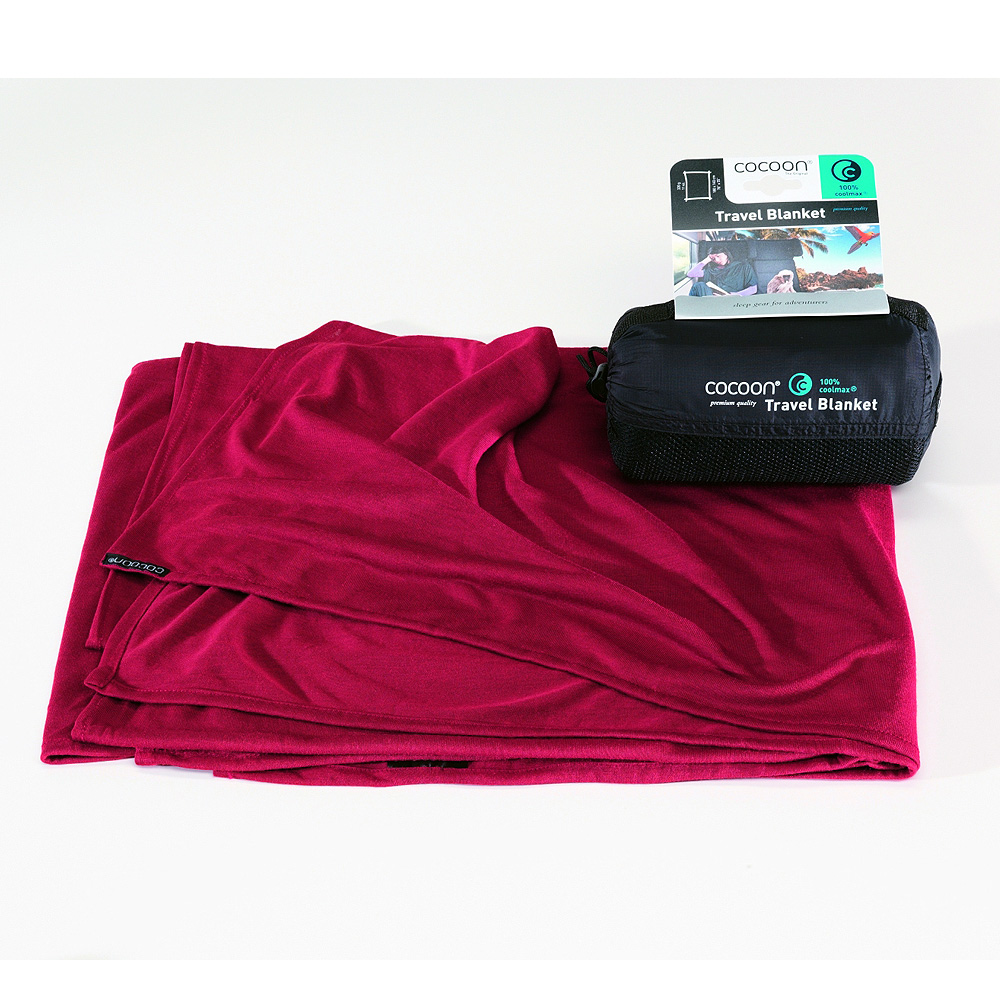 奧地利 COCOON|COOLMAX 輕量快乾旅行毛毯-紅