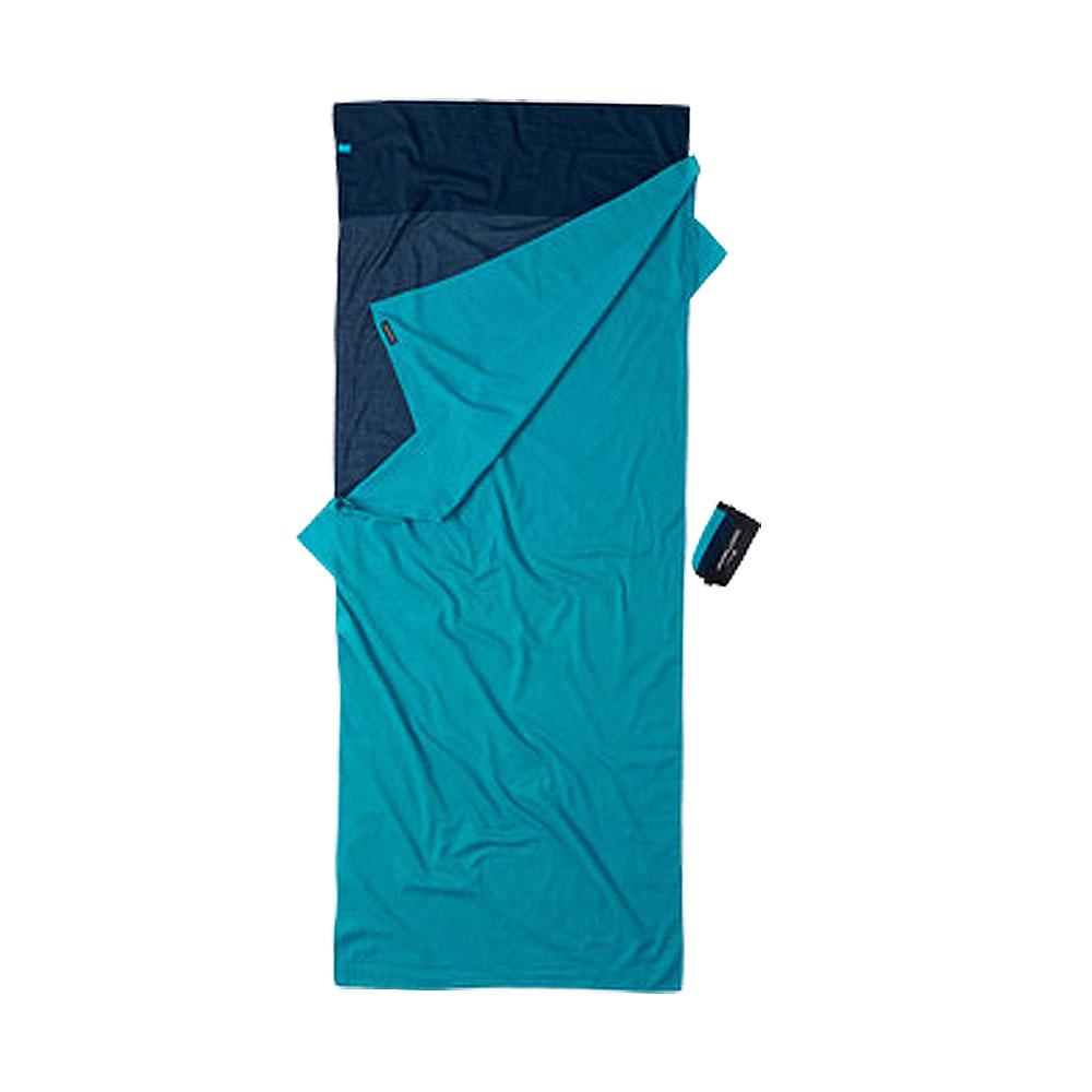 奧地利 COCOON|天然舒適 埃及棉旅用床單/睡袋內袋-深藍/湖水藍