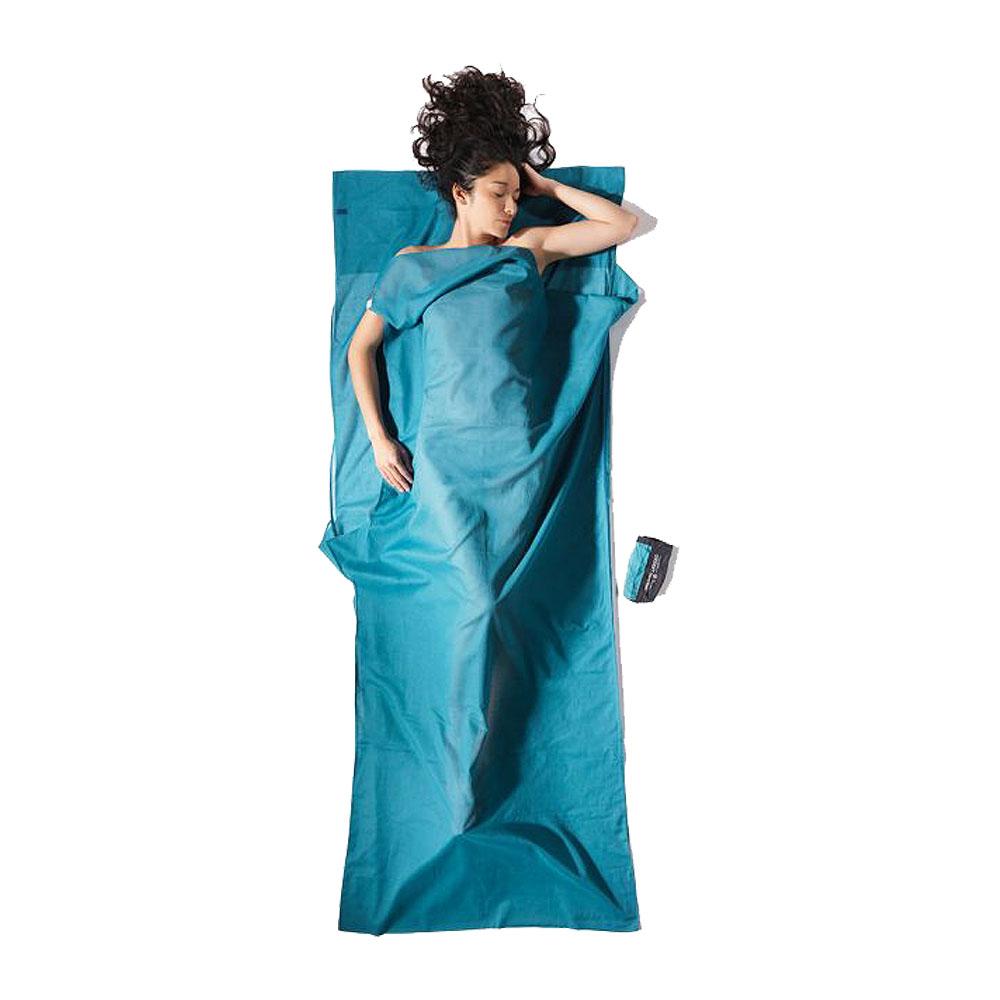 奧地利 COCOON|露營戶外 防蚊款埃及棉旅行床單/睡袋內袋-藍