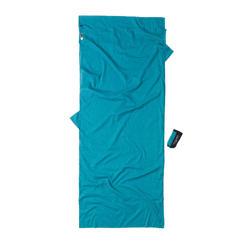 奧地利 COCOON 露營戶外 防蚊款埃及棉旅行床單/睡袋內袋-藍