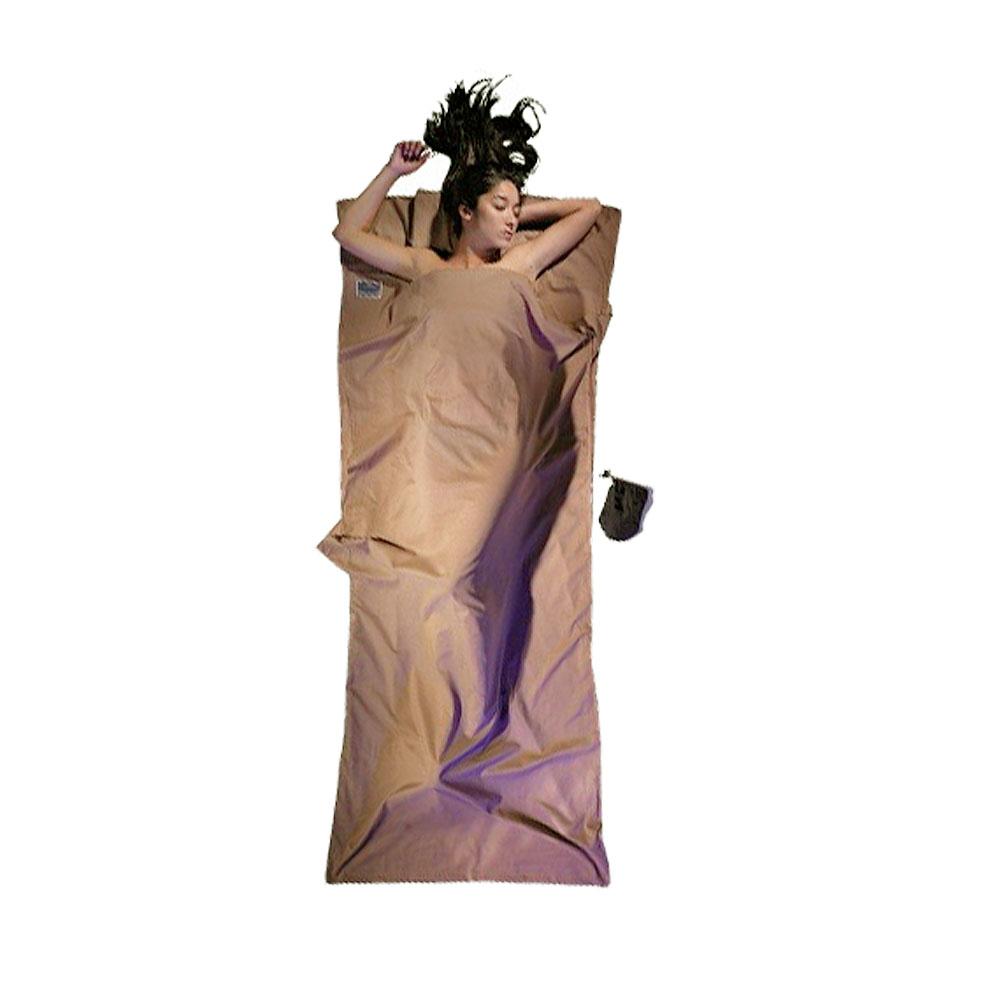 奧地利 COCOON|舒適乾淨 埃及棉睡袋內袋 / 旅用床單-卡其