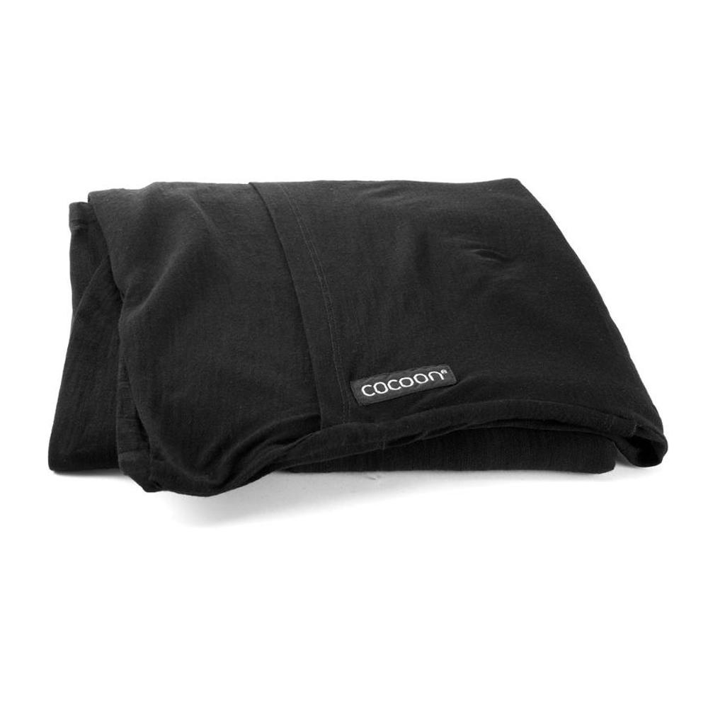 奧地利 COCOON|升溫7度C ! 天然美麗諾羊毛旅用床單/睡袋內袋-黑