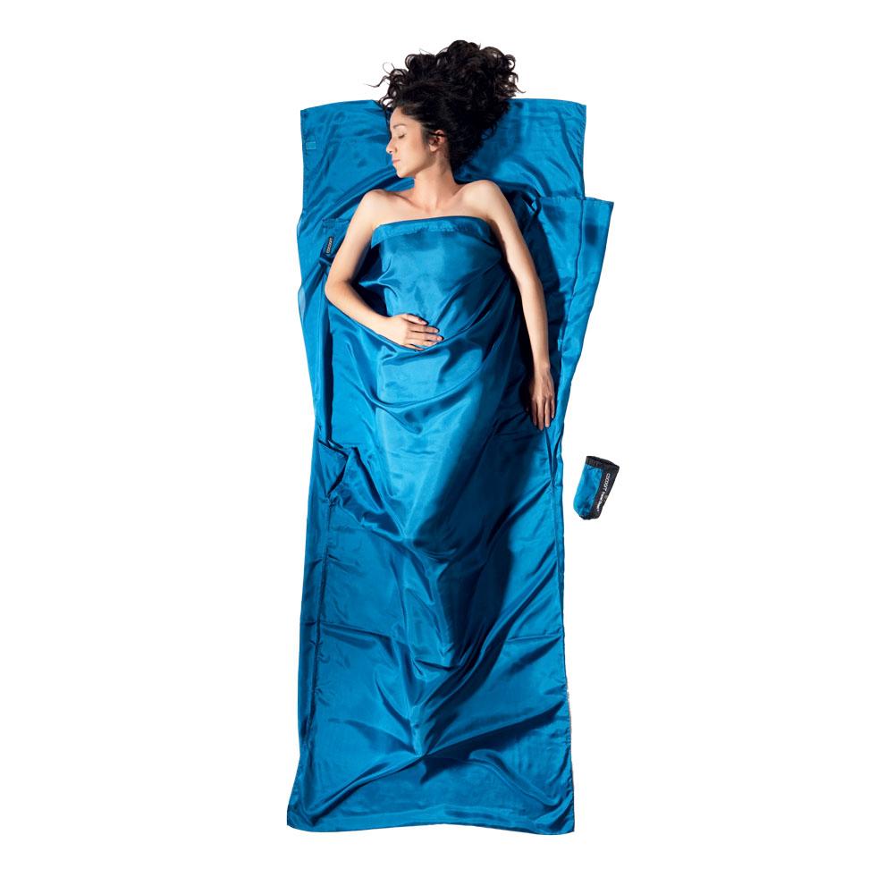 奧地利 COCOON|輕巧親膚 100%純絲 旅用床單 / 睡袋內袋-矢車菊藍