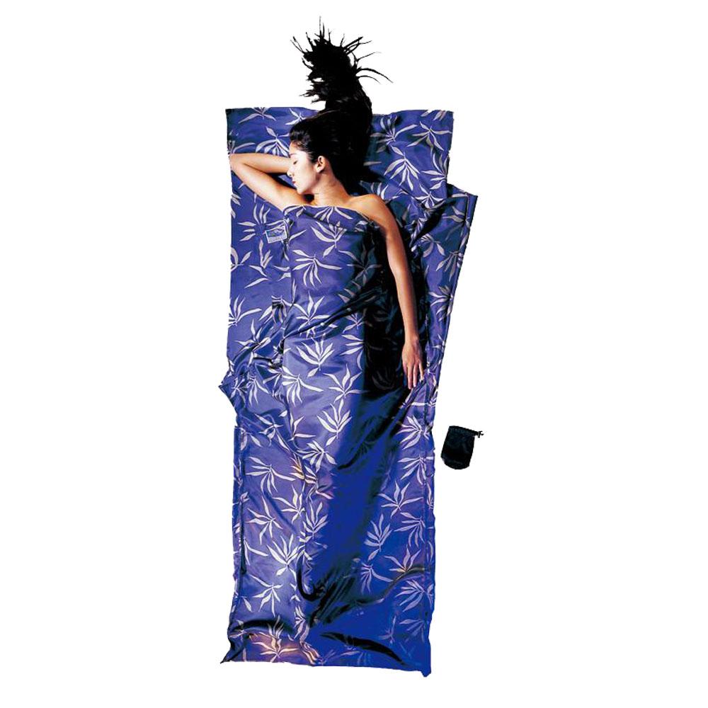 奧地利 COCOON|輕巧親膚 100%純絲 旅用床單 / 睡袋內袋-葉狀紋