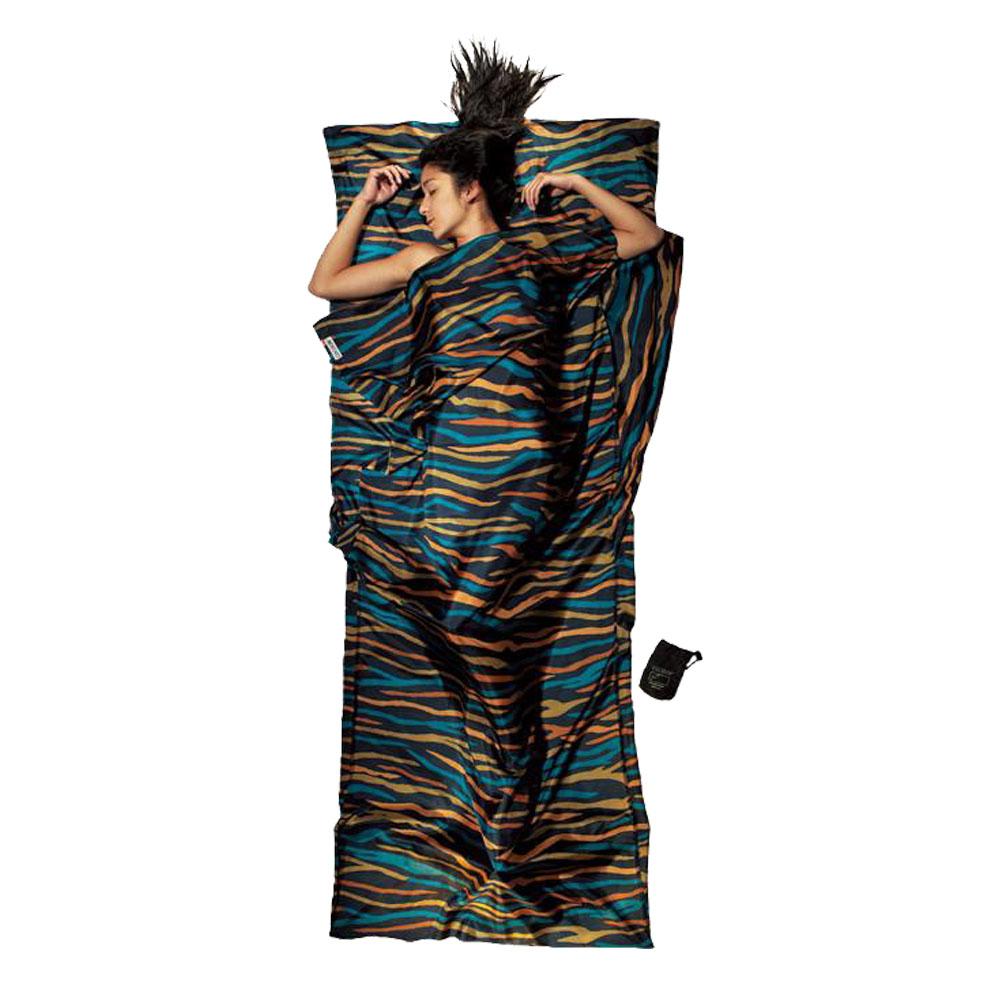 奧地利 COCOON|輕巧親膚 100%純絲 旅用床單 / 睡袋內袋-彩色斑馬紋