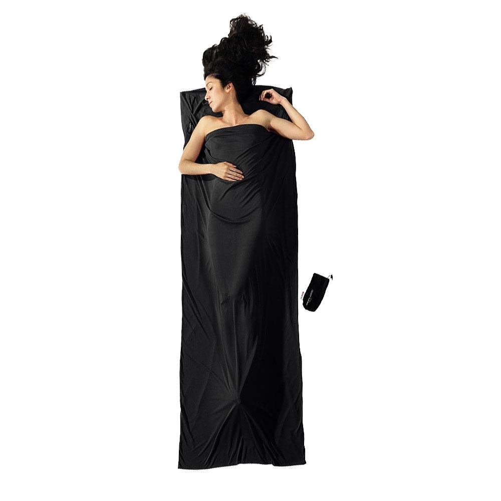 奧地利 COCOON|升溫7度C -中空保暖纖維旅用床單 / 睡袋內袋 - 黑