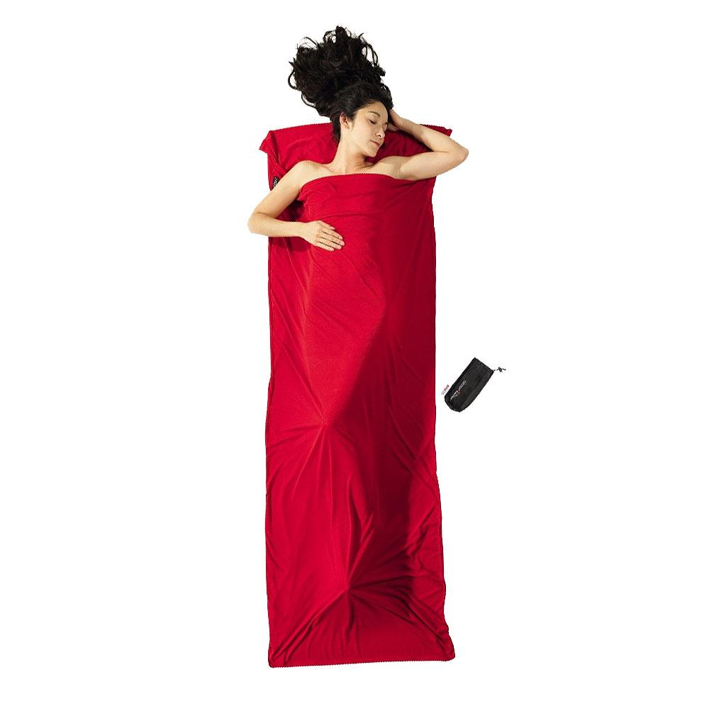 奧地利 COCOON|升溫9度C - 超保暖溫控中空纖維旅用床單 / 睡袋內袋 - 岩漿紅