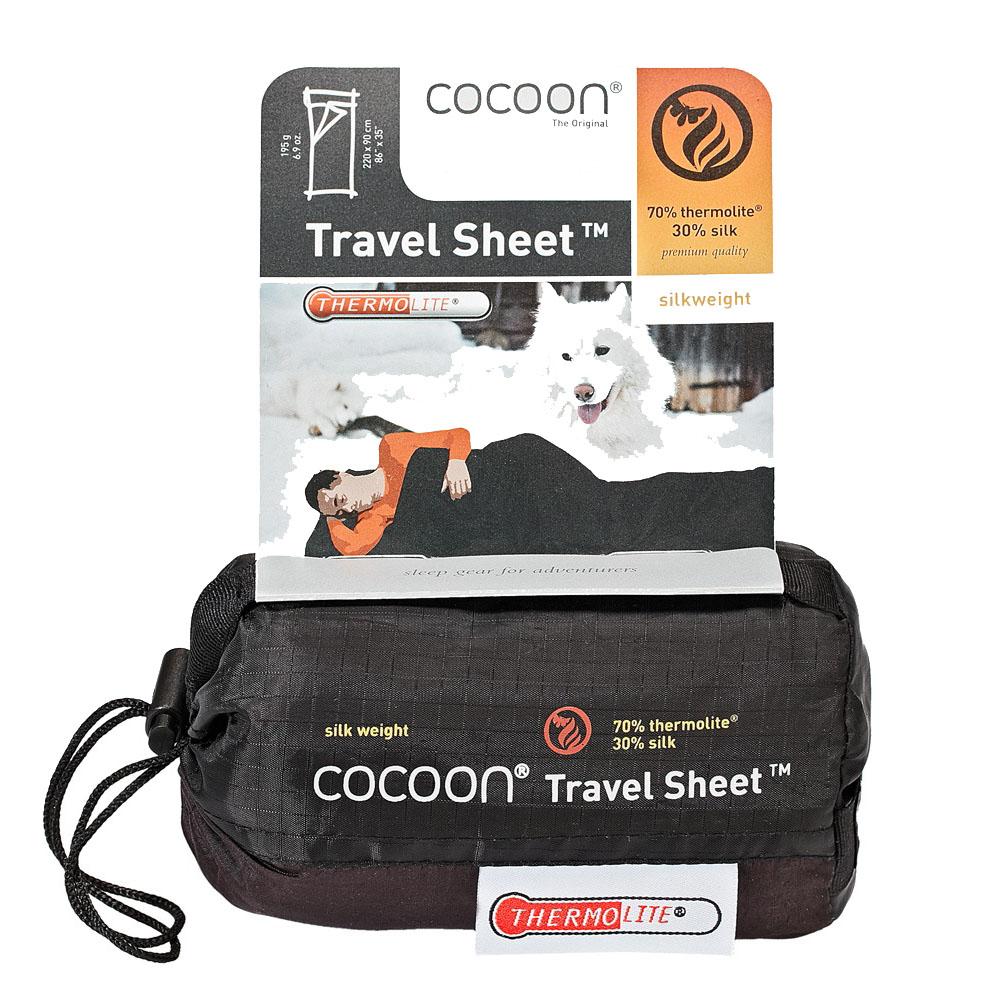 奧地利 COCOON 升溫6.3度C - 輕量保暖中空纖維混絲旅用床單 / 睡袋內袋 - 火山灰