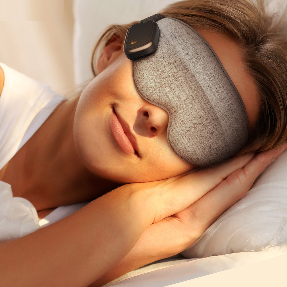美國Dreamlight|HEAT MINI 無線熱敷全遮光助眠眼罩 - 灰色