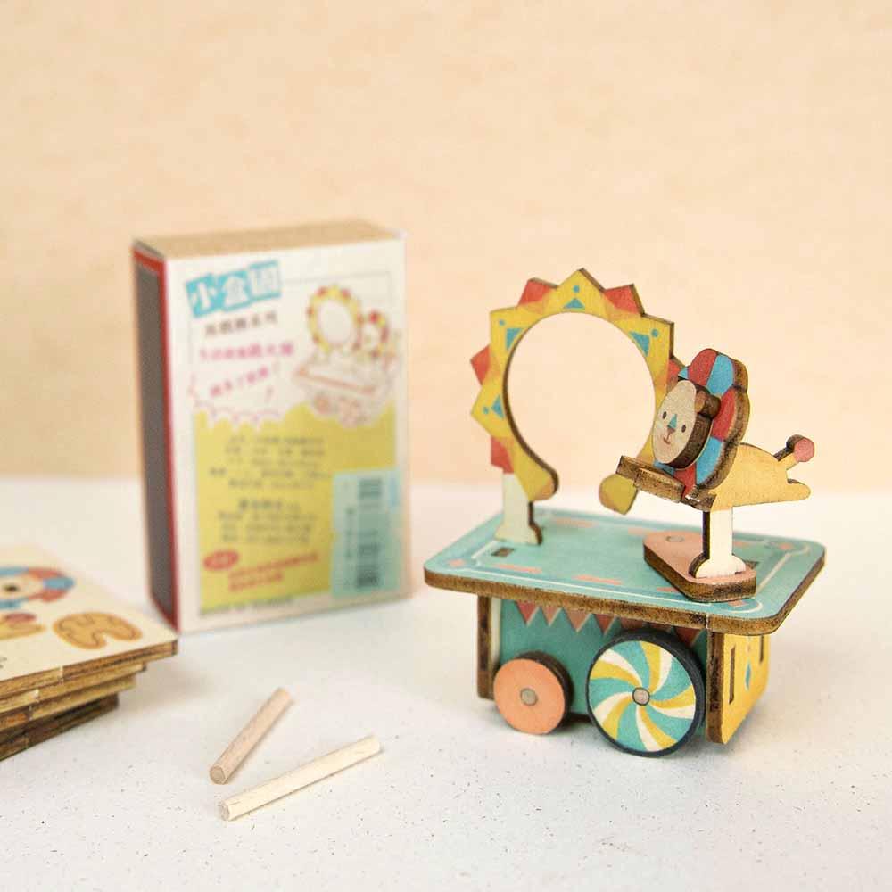 遊木時光|小盒國-可拼成童玩的拼圖(獅子跳火圈)