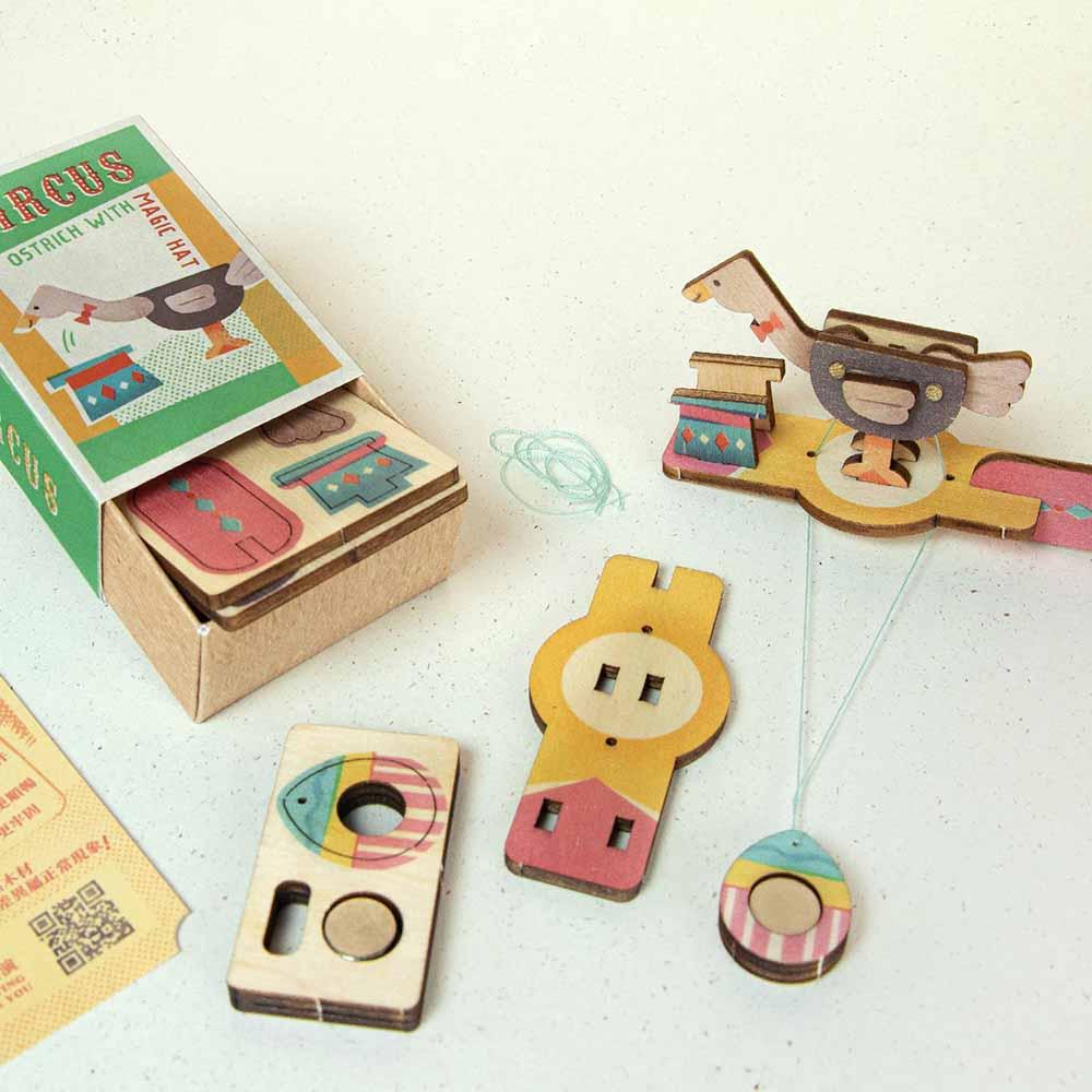 遊木時光 小盒國-可拼成童玩的拼圖(消失的鴕鳥)