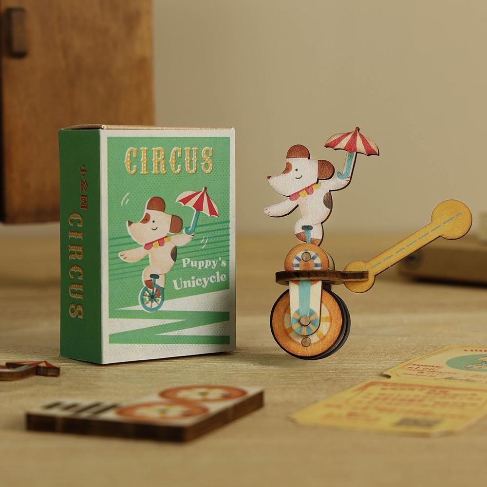 遊木時光|小盒國-可拼成童玩的拼圖(狗狗獨輪車)