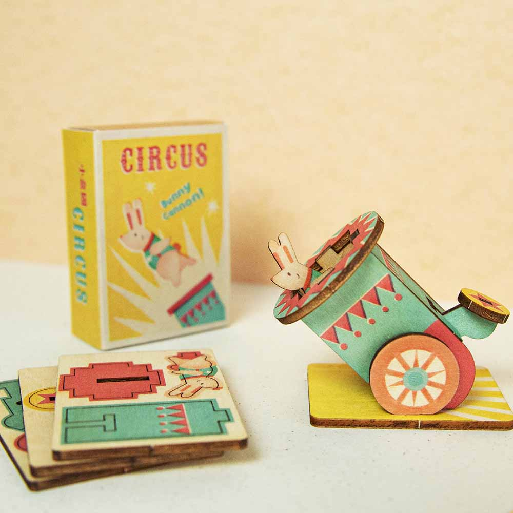 遊木時光 小盒國-可拼成童玩的拼圖(飛兔大砲)
