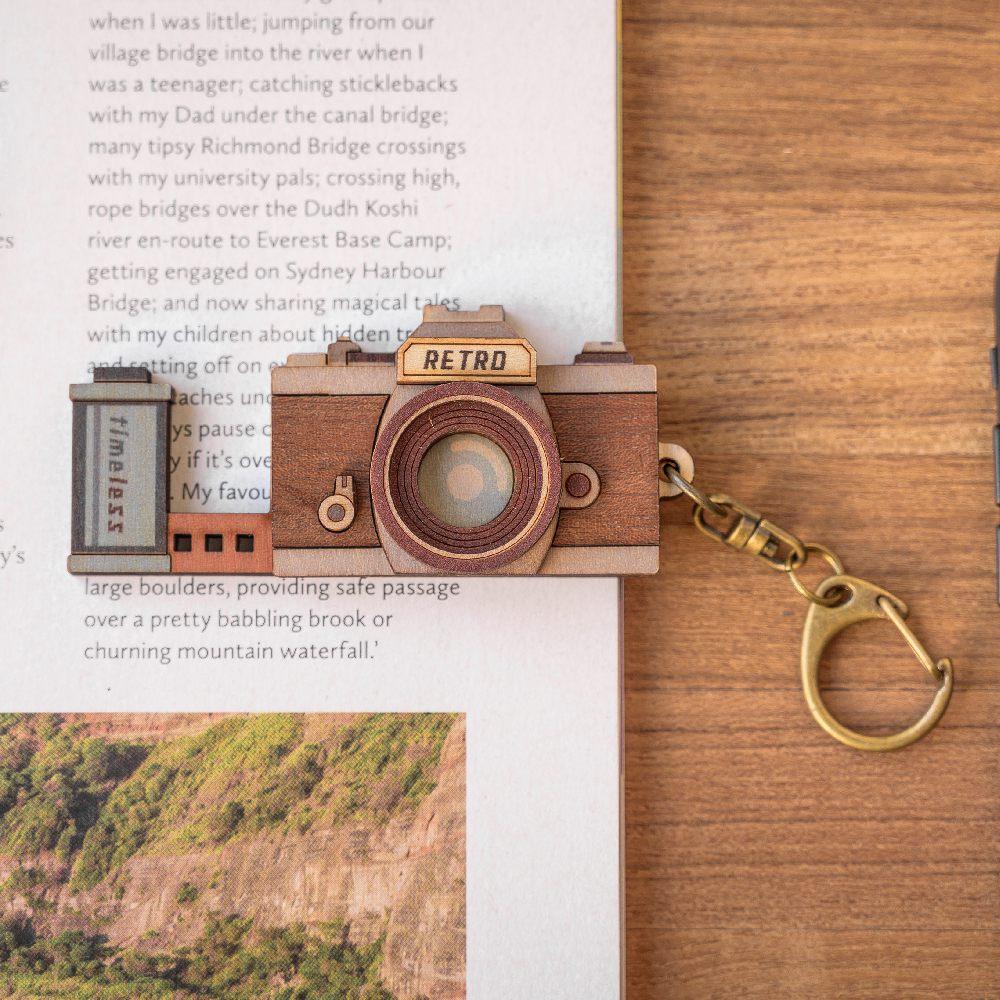 猴子設計 老時光手機架-單眼相機