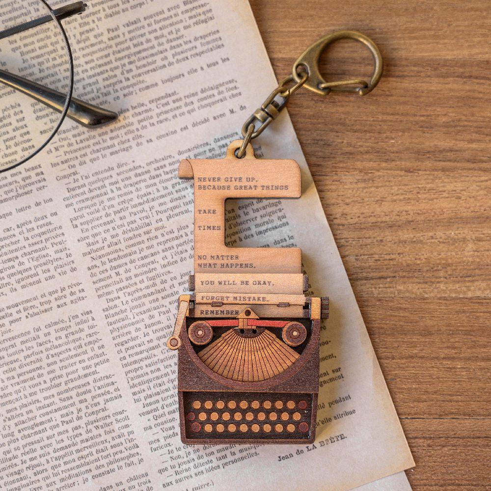 猴子設計 老時光手機架-打字機