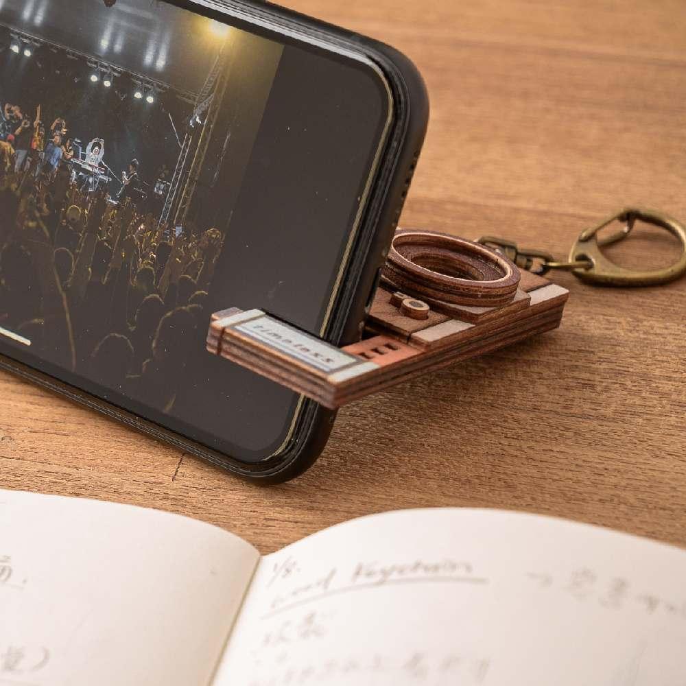 猴子設計|老時光手機架-留聲機