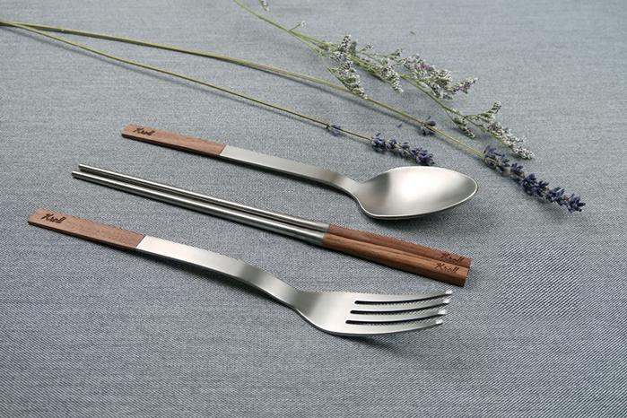 (複製)KROLL|純鈦家用餐具組(筷、叉、匙)