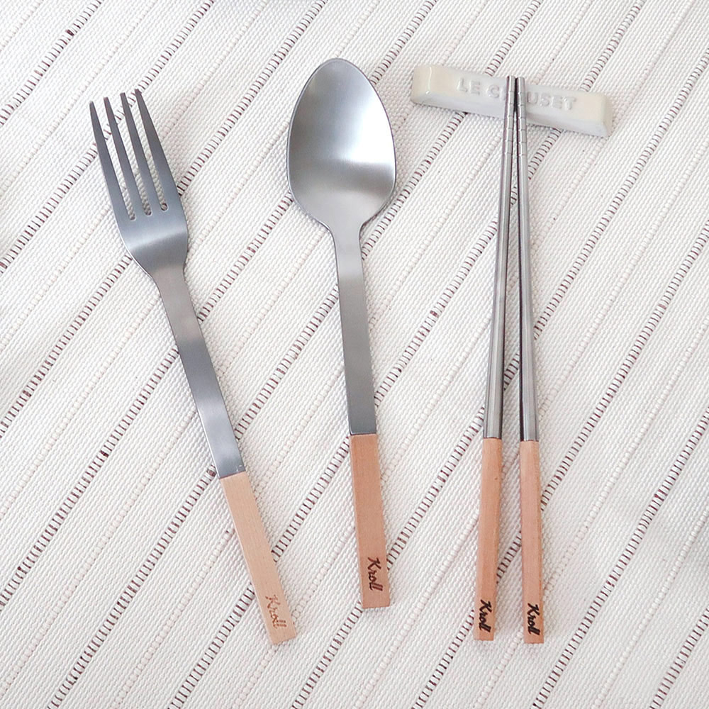 KROLL|純鈦家用餐具組(筷、叉、匙)