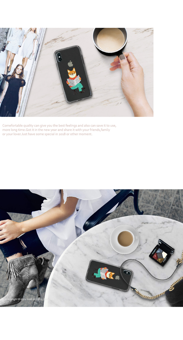 (複製)INJOY mall|iPhone 6 / 7 / 8 / Plus / X 系列 Look me紅唇女孩 耐衝擊防摔手機殼