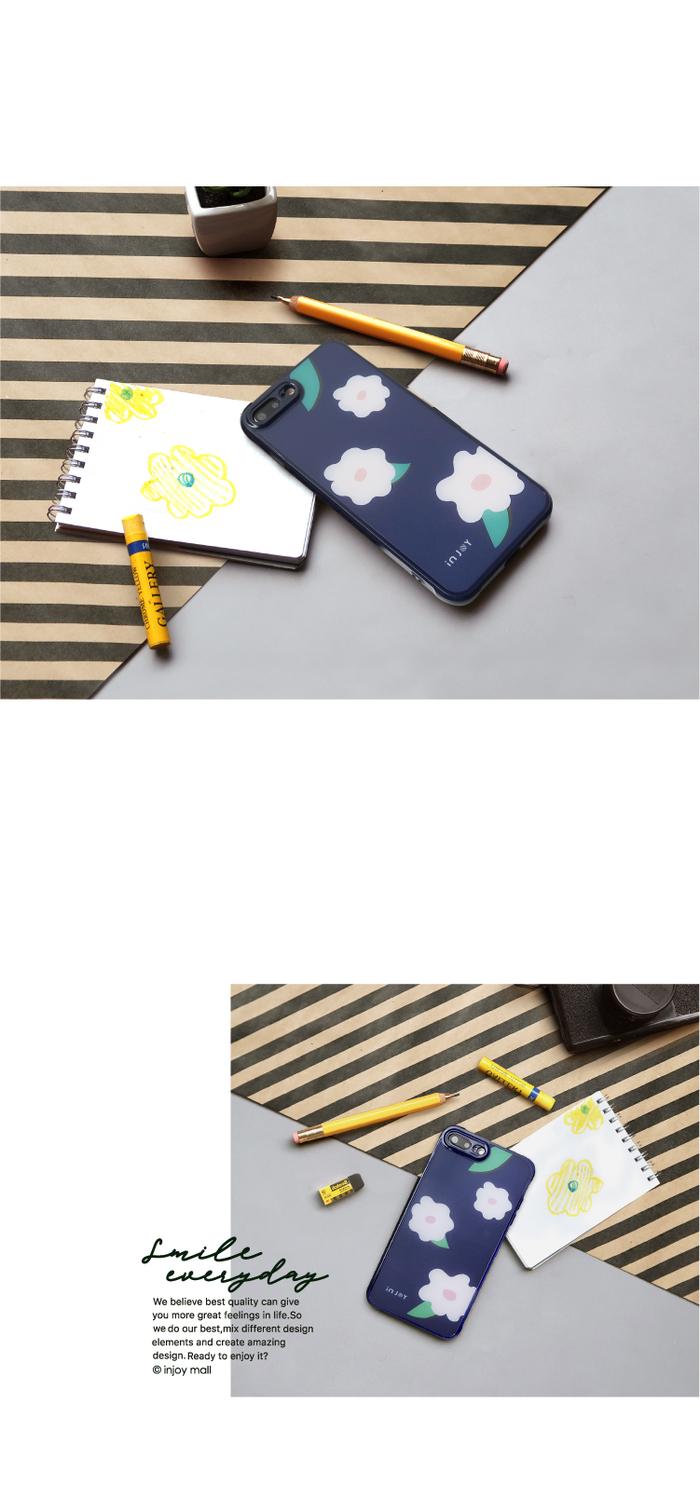 (複製)INJOY mall|iPhone 7 / 8 / Plus / X 浪漫仲夏之葉 耐撞擊邊框手機殼
