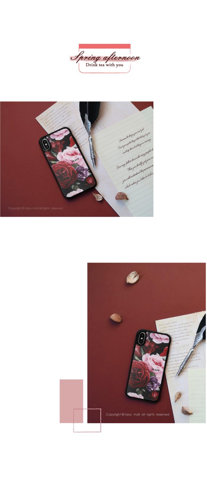 (複製)INJOY mall|iPhone 7 / 8 / Plus / X 青春洋溢花朵 耐撞擊邊框手機殼