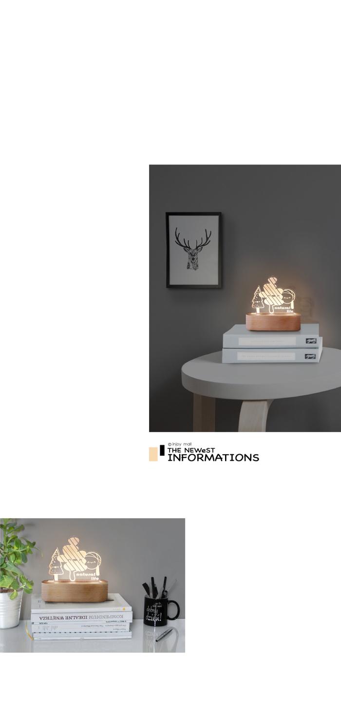 INJOY mall|童趣森林, 療癒, 溫馨,送禮小物, 床頭燈, 檯燈, 夜燈, 3D小夜燈,臥室燈飾