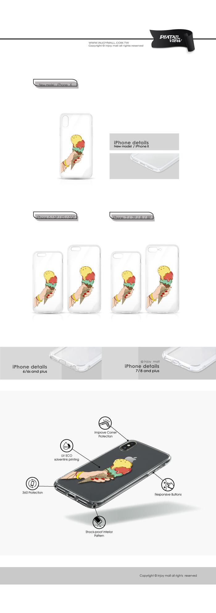 (複製)INJOY mall|iPhone 6 / 7 / 8 / Plus / X 系列 太空迷航 透明耐衝擊防摔手機