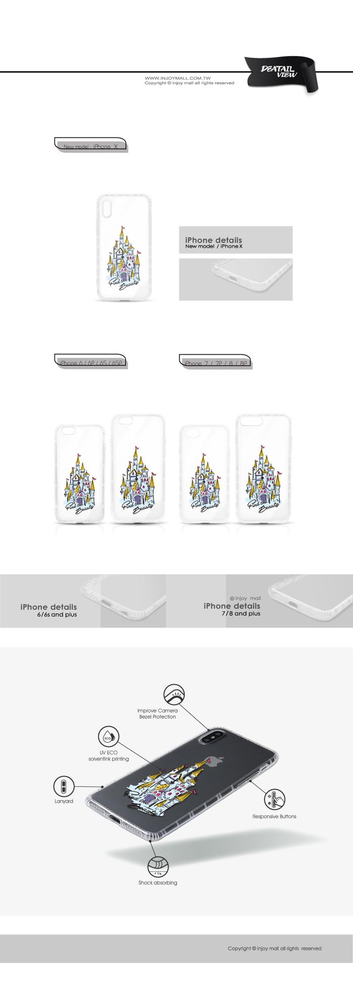 (複製)INJOY mall|iPhone 6 / 7 / 8 / Plus / X 系列 插畫風草莓亮面手機殼