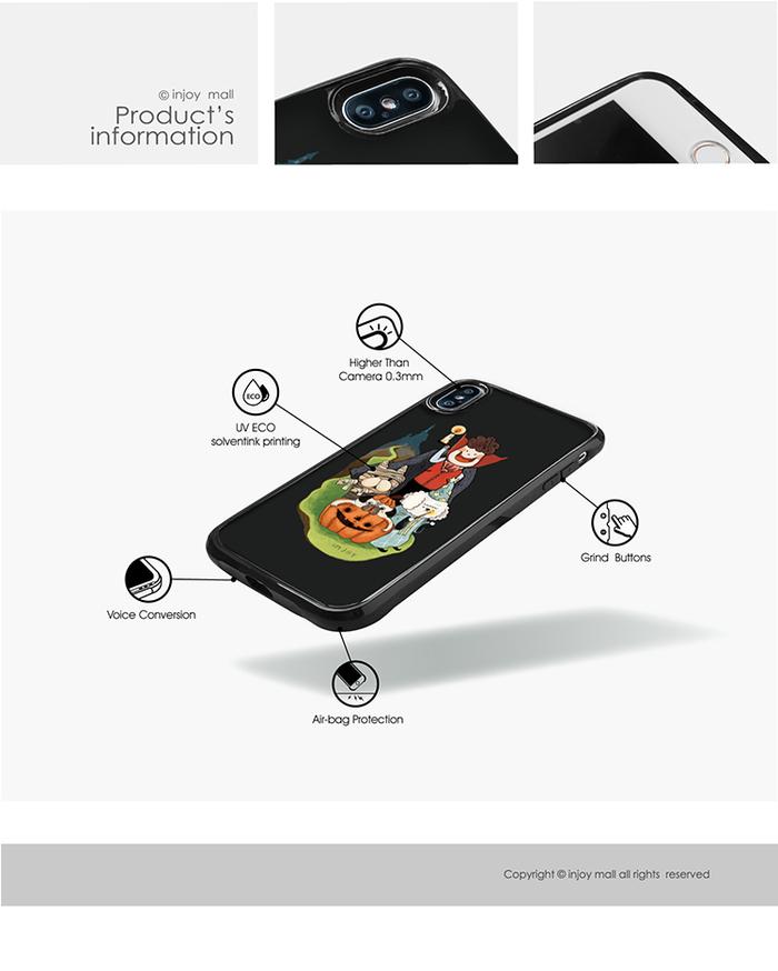 INJOY mall|iPhone 7 / 8 / Plus / X 系列 不給糖就搗蛋  耐撞擊邊框手機殼