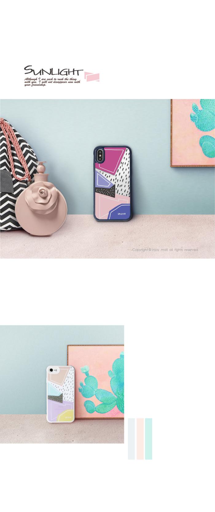 (複製)INJOY mall|iPhone 7 / 8 / Plus / X 系列 度假風情  耐撞擊邊框手機殼