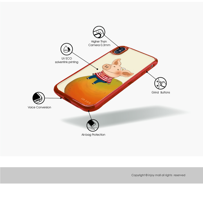 (複製)INJOY mall|iPhone 7 / 8 / Plus / X / XS / XR / max 系列 呼吸城市 耐撞擊邊框手機殼