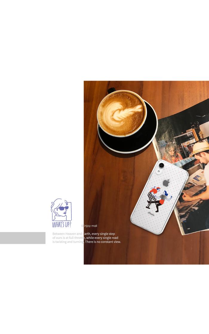 (複製)INJOY mall|iPhone 7 / 8 / Plus / X / XS / XR / max 系列 小P大吉大利 耐撞擊邊框手機殼