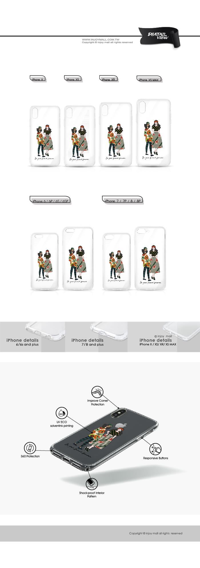 (複製)INJOY mall|iPhone 6 / 7 / 8 / Plus / X / XS / XR / max 系列 跟我一起搖擺 透明耐衝擊防摔手機